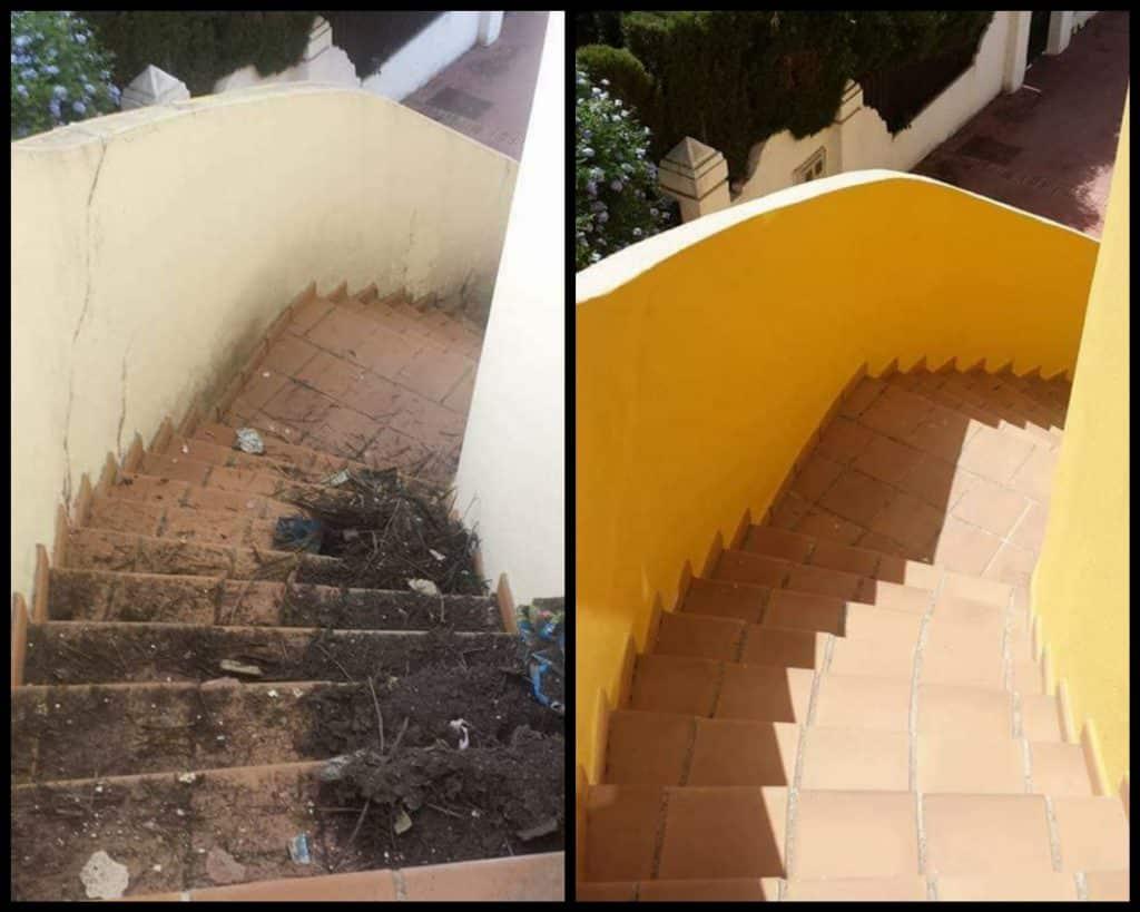 Pintamos las escaleras exteriores de tu casa o local.